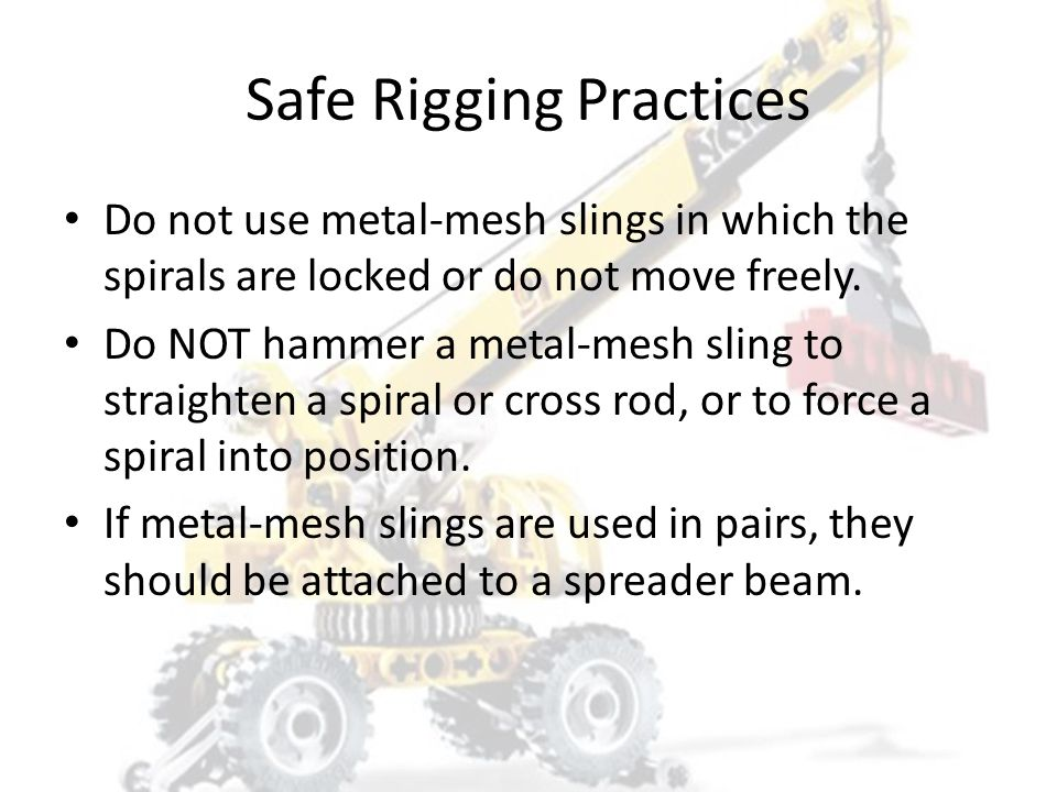 Safe Rigging Practices