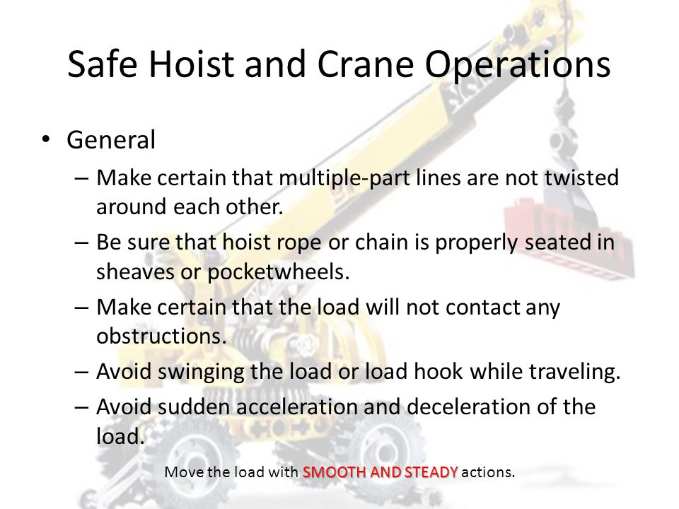 Safe Hoist and Crane Operations