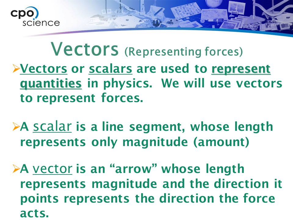 Vectors (Representing forces)