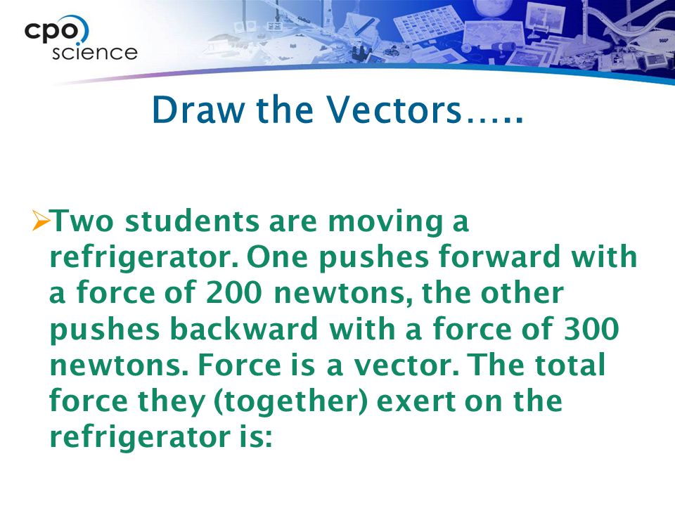 Draw the Vectors…..