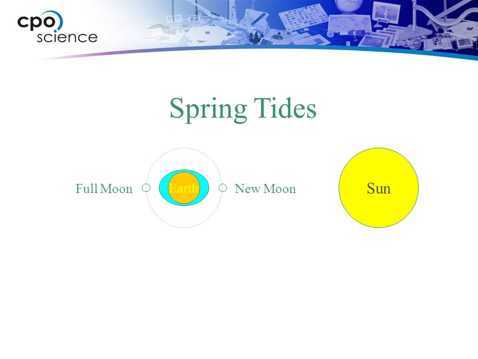 Spring Tides Sun Earth Full Moon New Moon