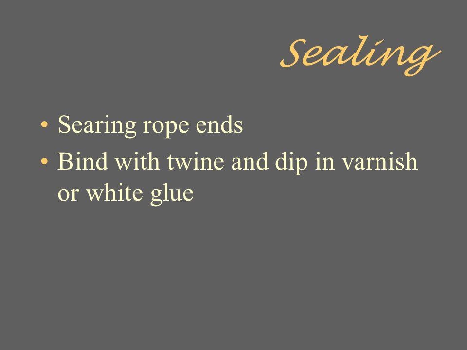 Sealing Searing rope ends