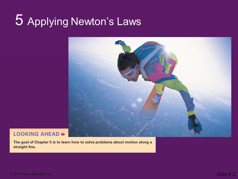 5 Applying Newton's Laws