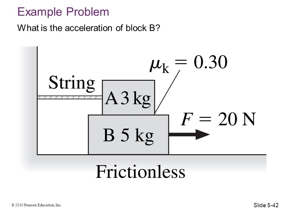 Example Problem What is the acceleration of block B Slide 5-42