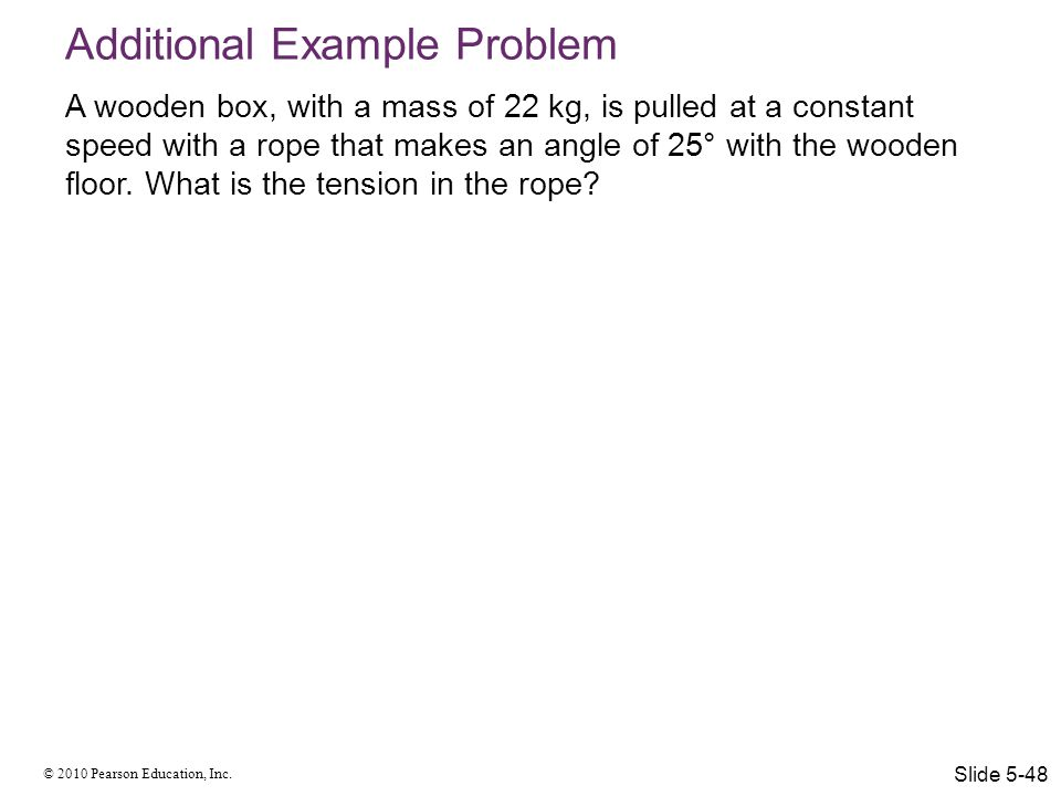 Additional Example Problem