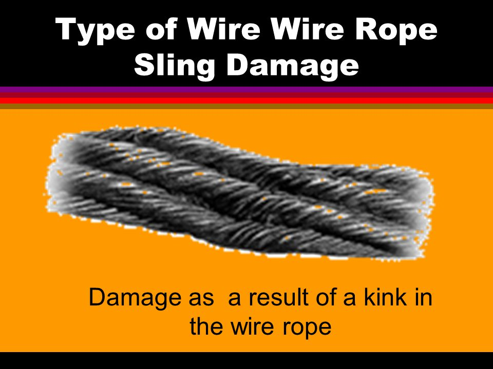 Type of Wire Wire Rope Sling Damage