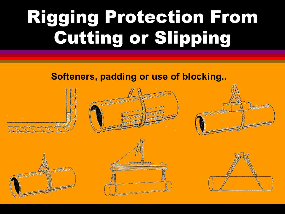 Rigging Protection From Cutting or Slipping