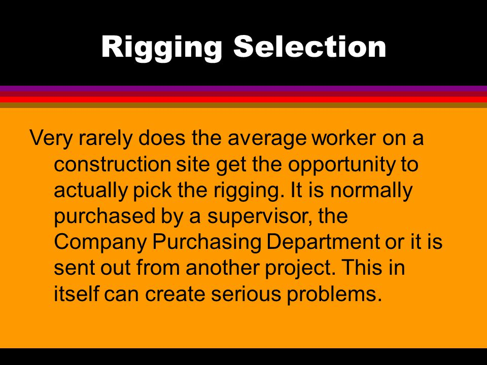 Rigging Selection