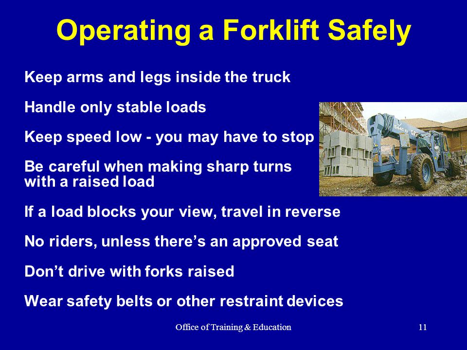 Operating a Forklift Safely