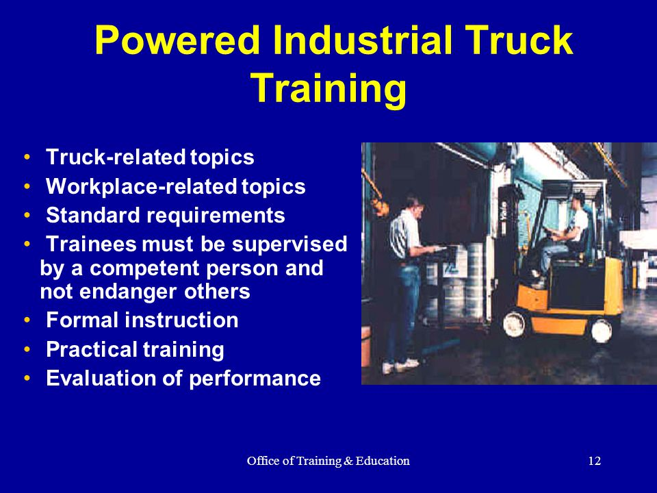 Powered Industrial Truck Training