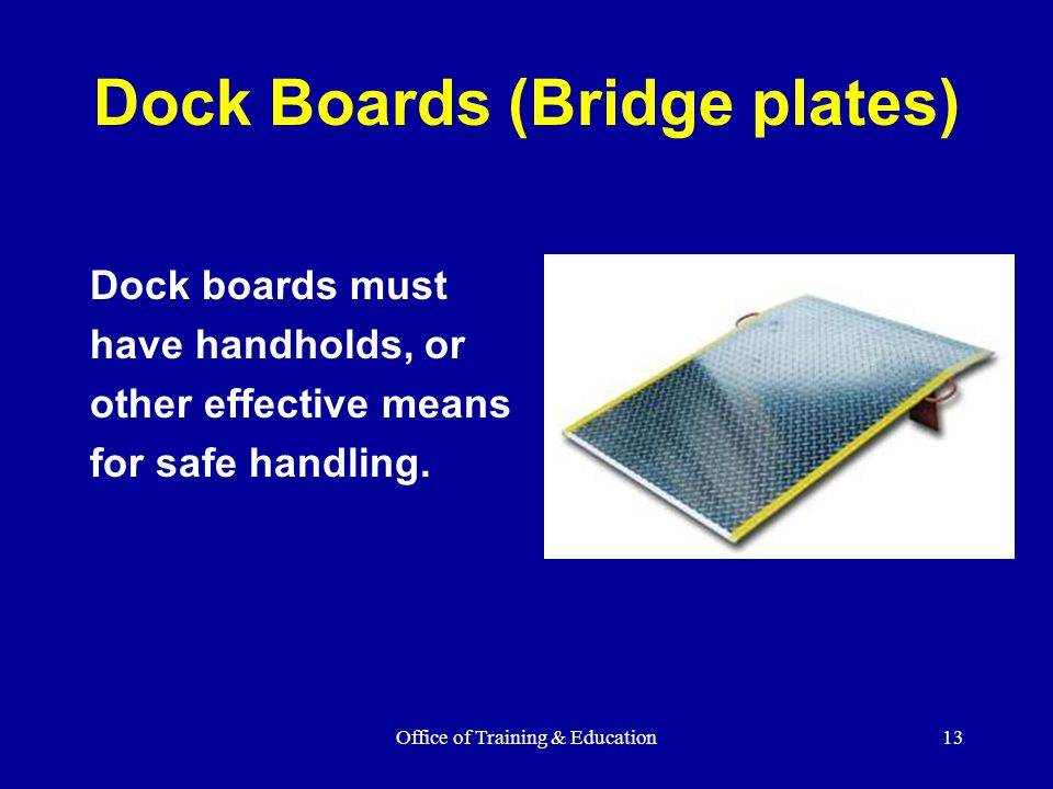 Dock Boards (Bridge plates)