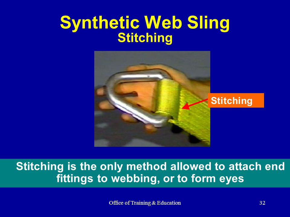 Synthetic Web Sling Stitching