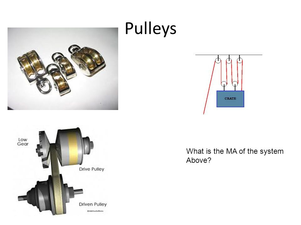 Pulleys What is the MA of the system Above