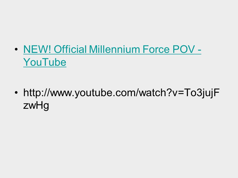 NEW! Official Millennium Force POV - YouTube