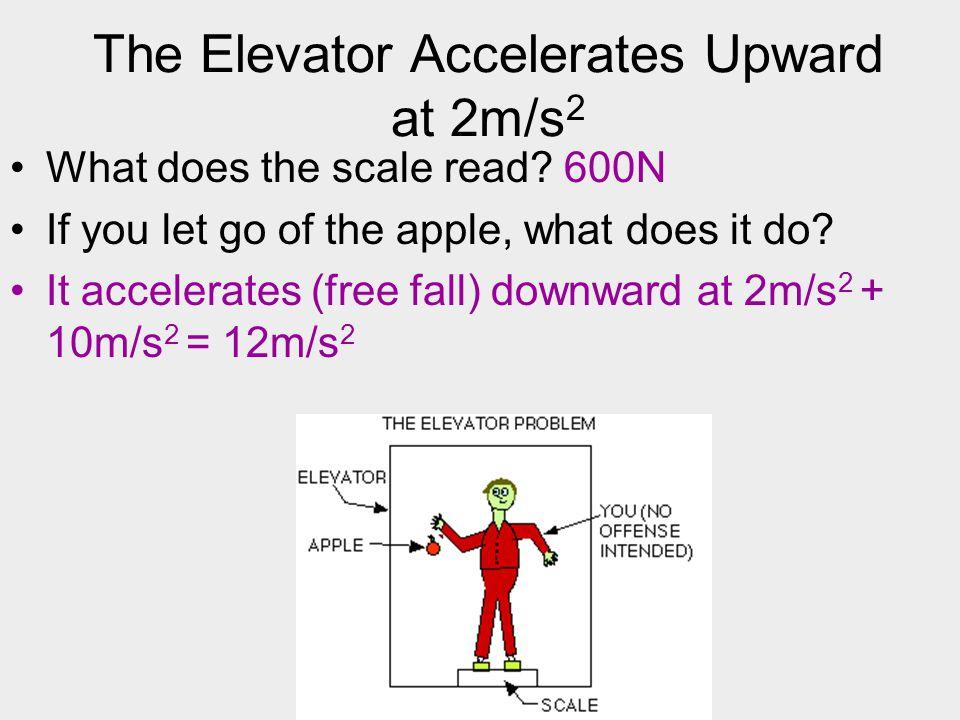 The Elevator Accelerates Upward at 2m/s2