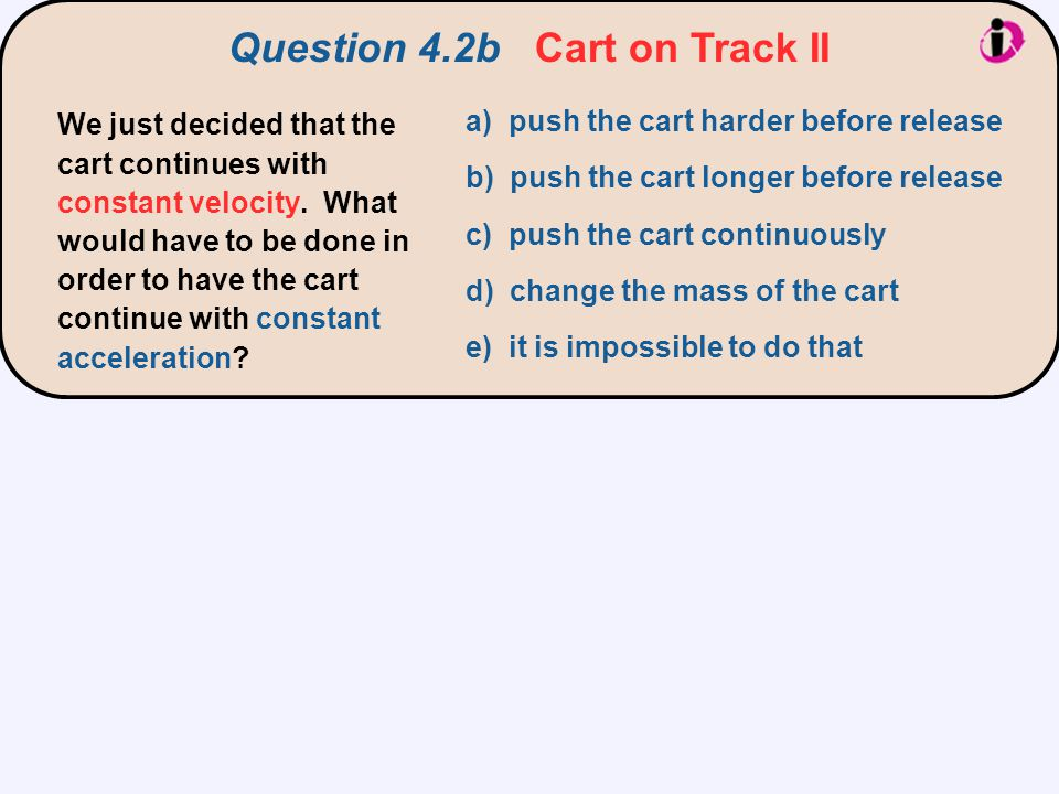 Question 4.2b Cart on Track II