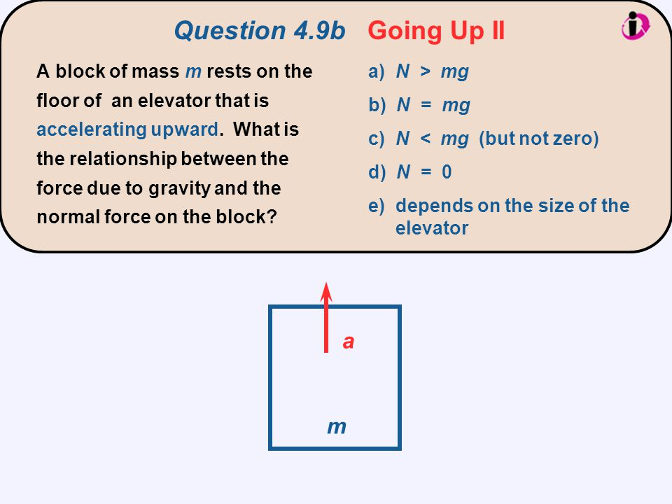 Question 4.9b Going Up II a m