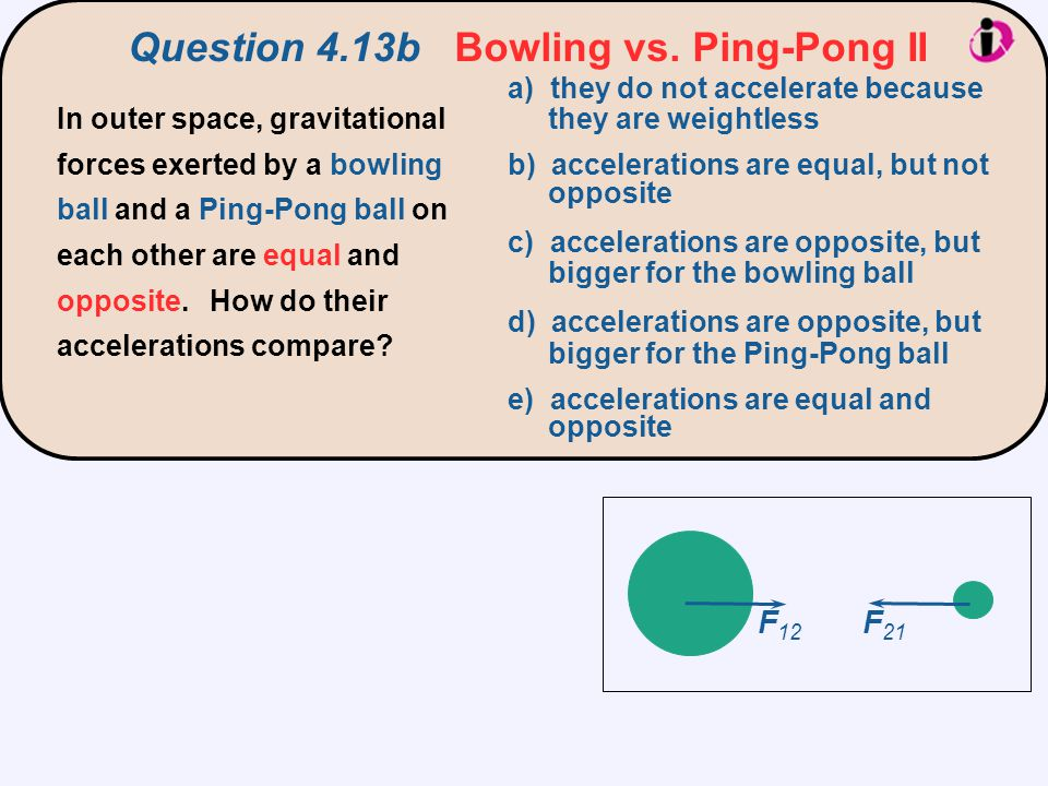 Question 4.13b Bowling vs. Ping-Pong II