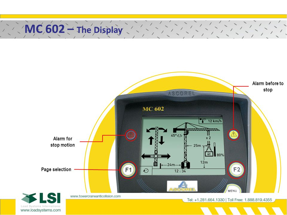 MC 602 – The Display Alarm before to stop Alarm for stop motion