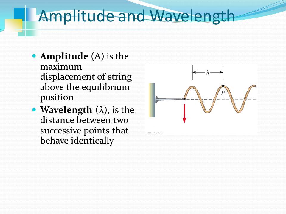 Amplitude and Wavelength