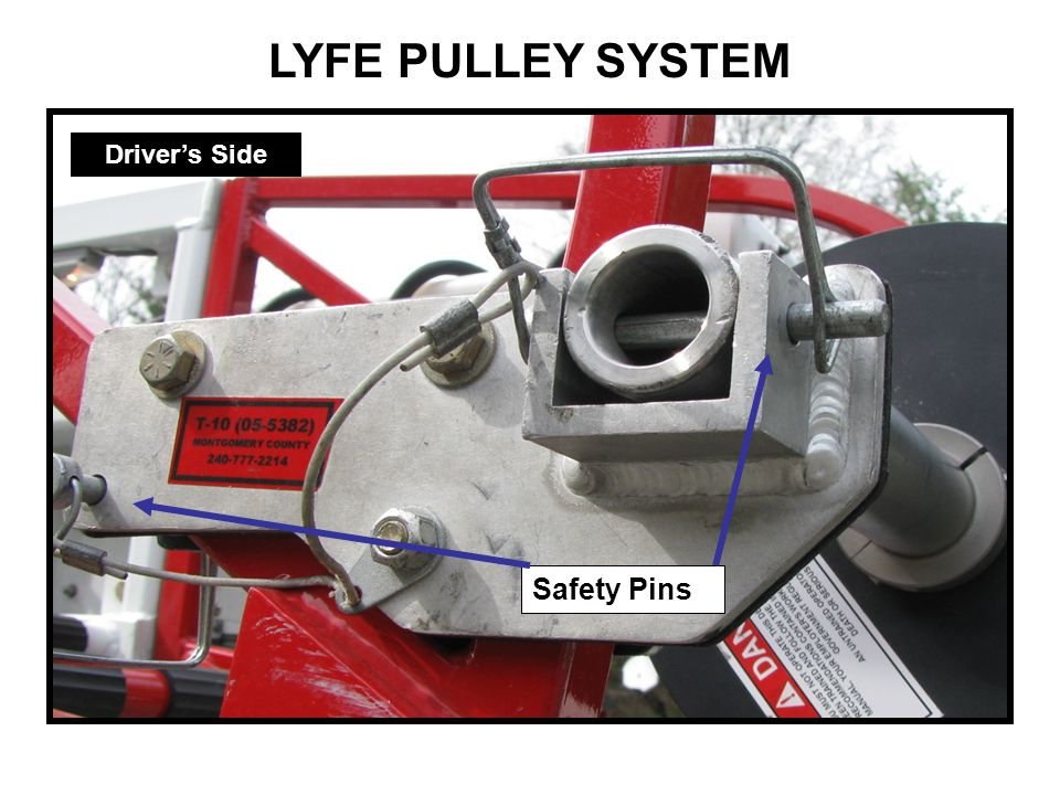 LYFE PULLEY SYSTEM Driver's Side Safety Pins