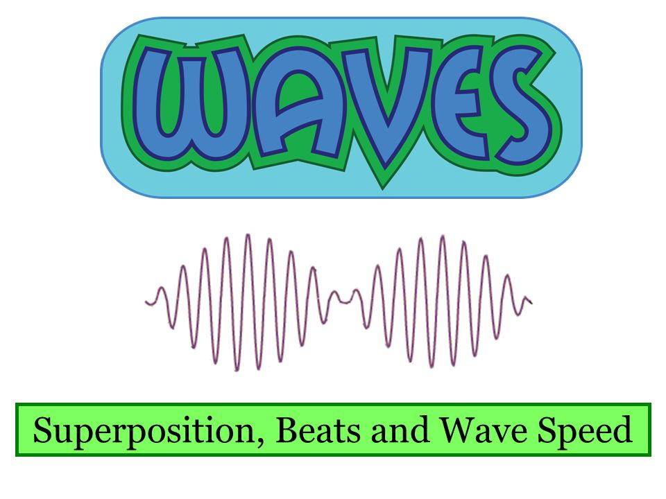 Superposition, Beats and Wave Speed