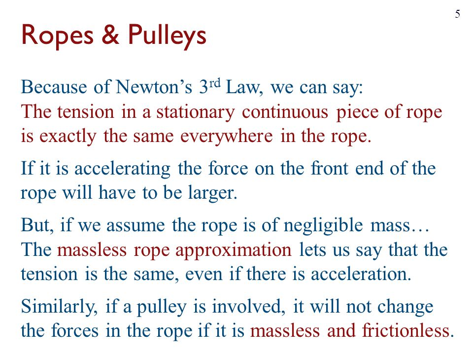 Ropes & Pulleys