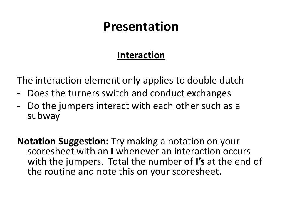 Presentation Interaction