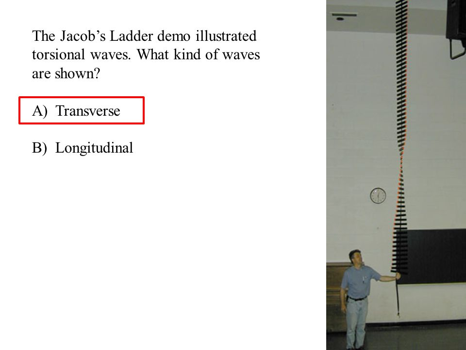 The Jacob's Ladder demo illustrated torsional waves