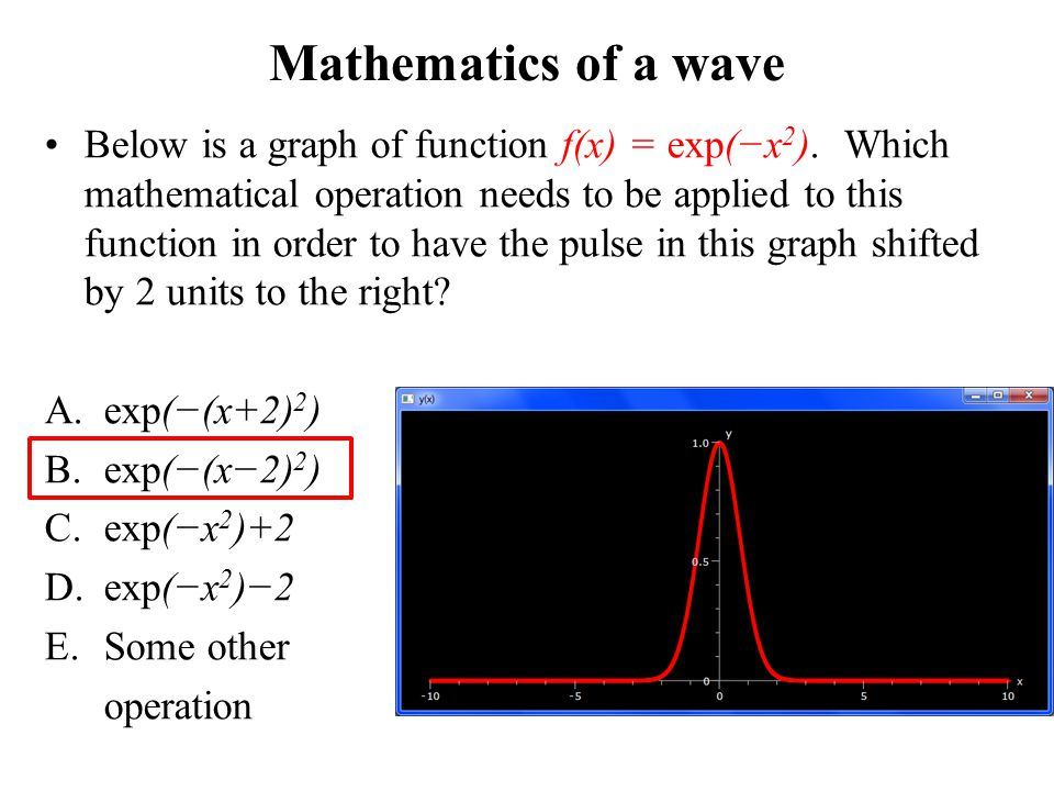Mathematics of a wave
