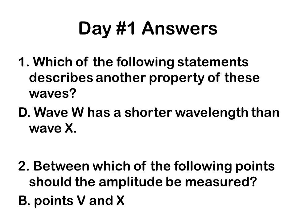 Day #1 Answers