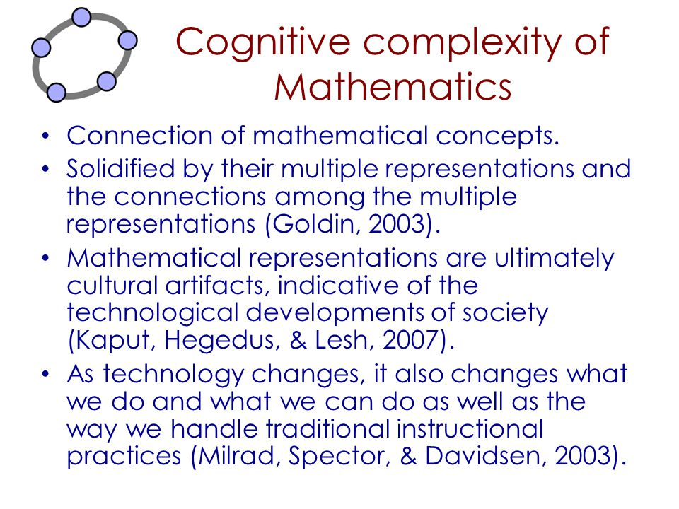 Cognitive complexity of Mathematics