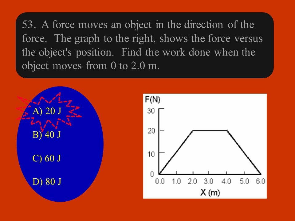 53. A force moves an object in the direction of the force