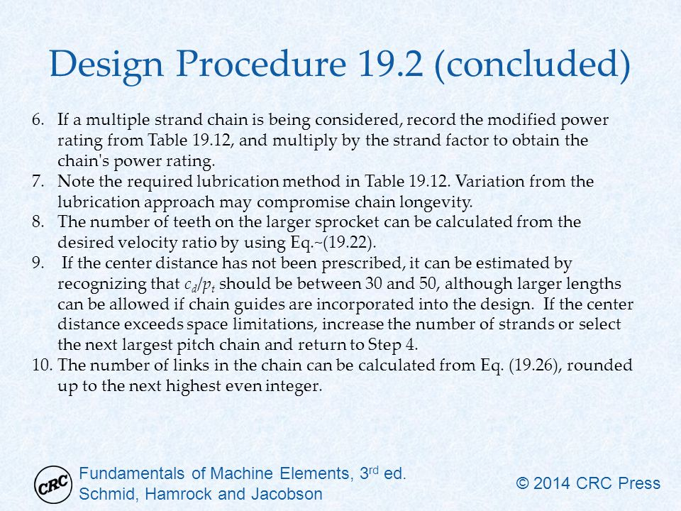 Design Procedure 19.2 (concluded)