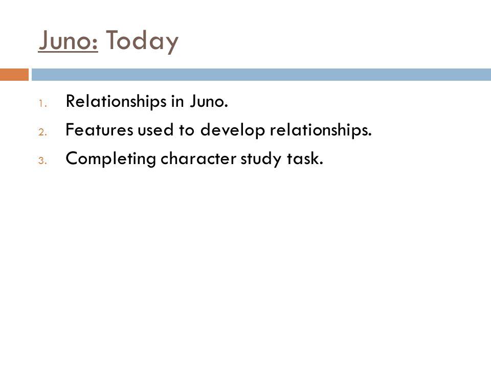 Juno: Today Relationships in Juno.