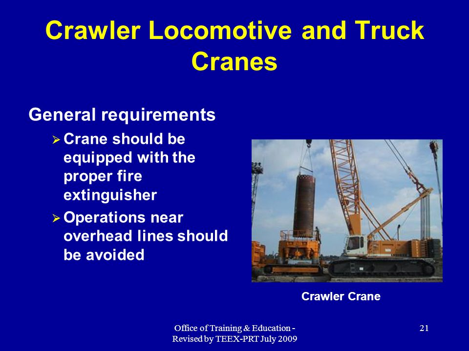 Crawler Locomotive and Truck Cranes