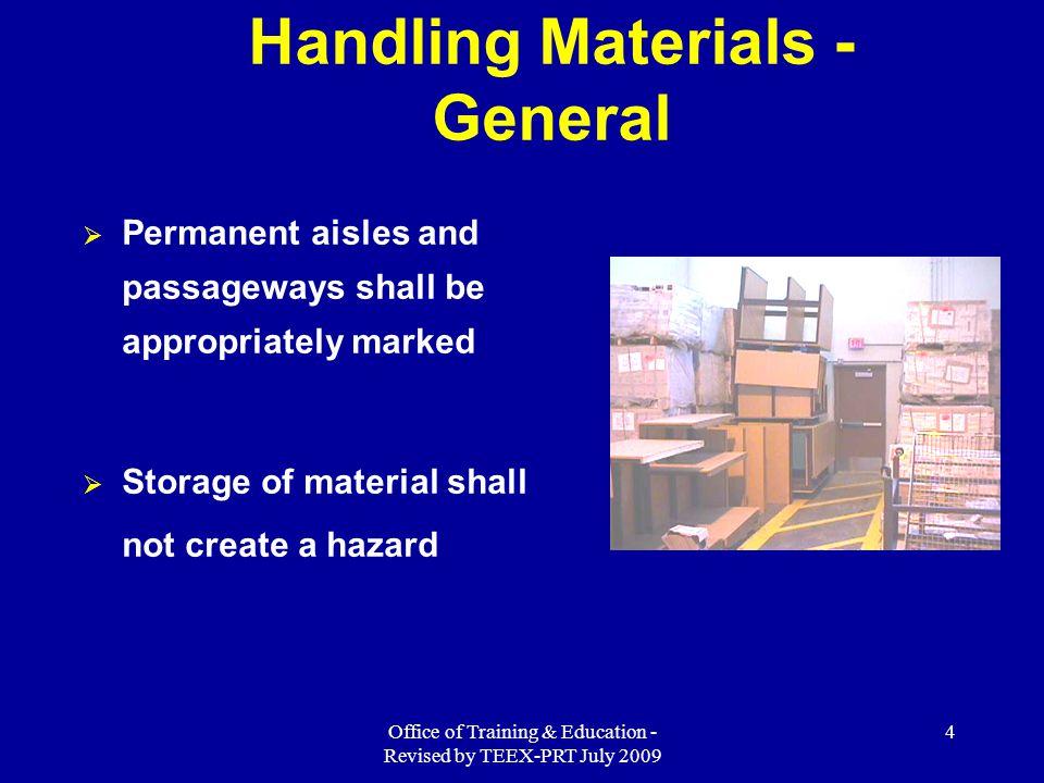 Handling Materials - General