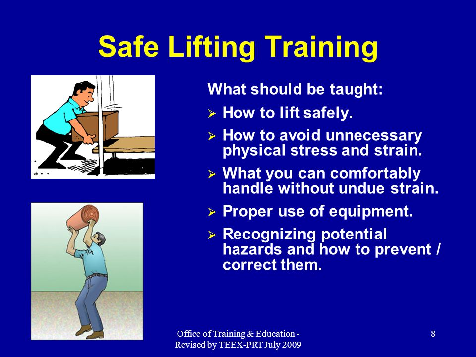 Office of Training & Education - Revised by TEEX-PRT July 2009