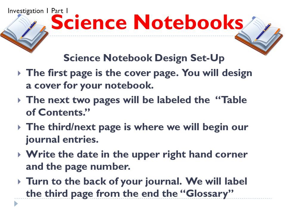Science Notebooks Science Notebook Science Notebook Design Set-Up