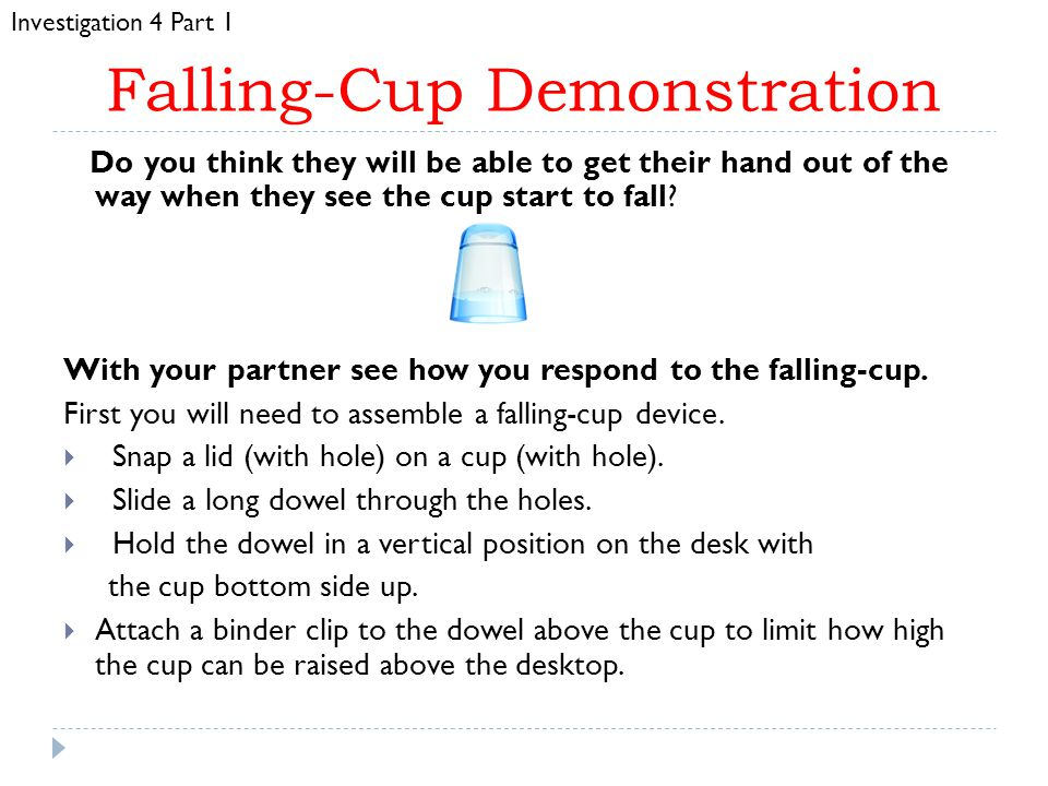 Falling-Cup Demonstration