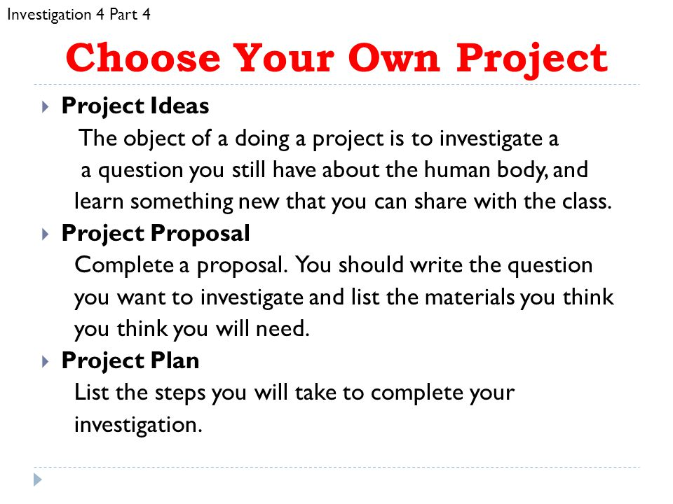 Choose Your Own Project