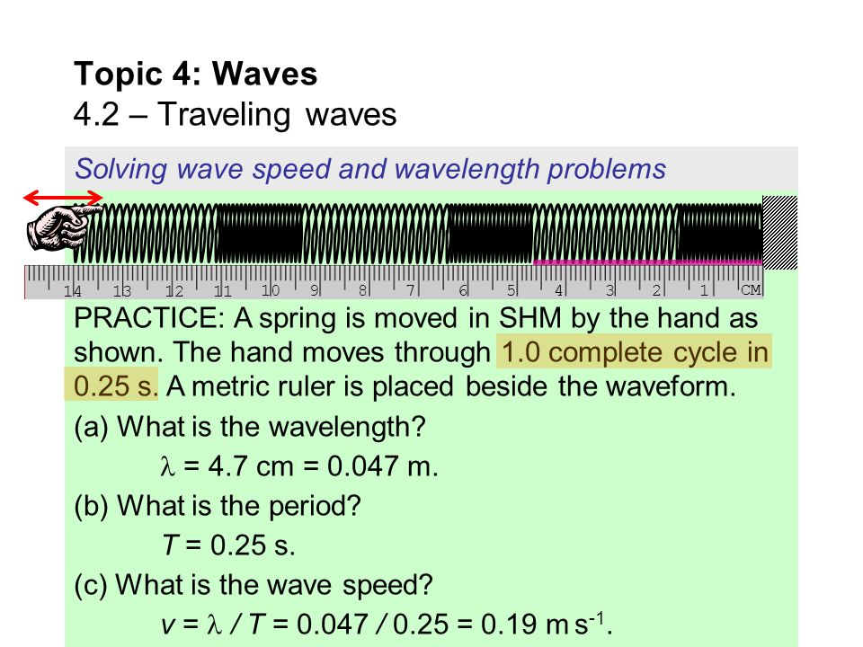 Topic 4: Waves 4.2 – Traveling waves