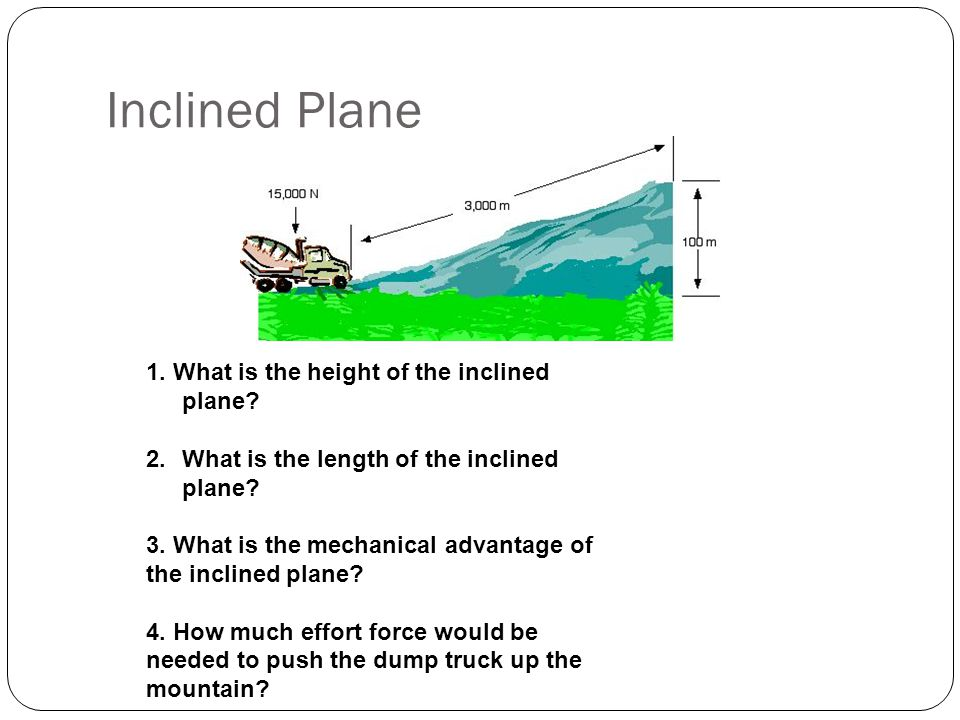 Inclined Plane 1. What is the height of the inclined plane