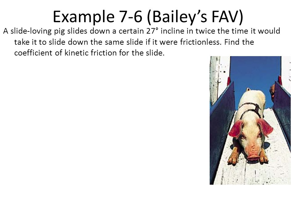 Example 7-6 (Bailey's FAV)