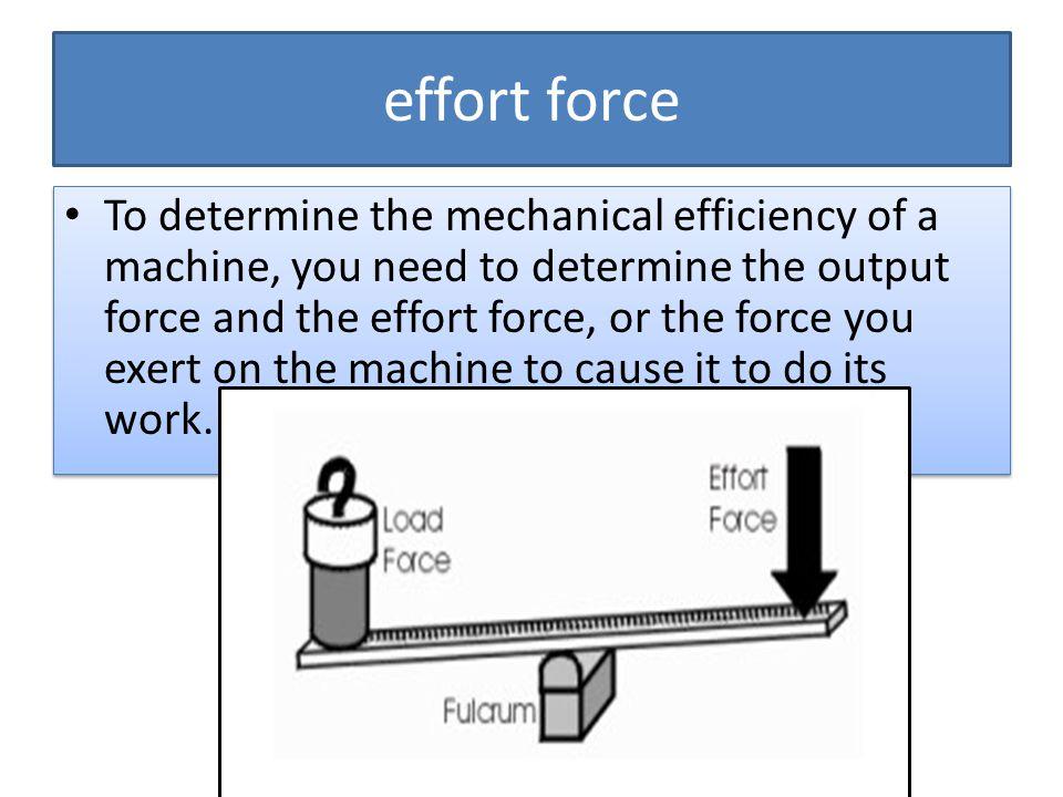 effort force