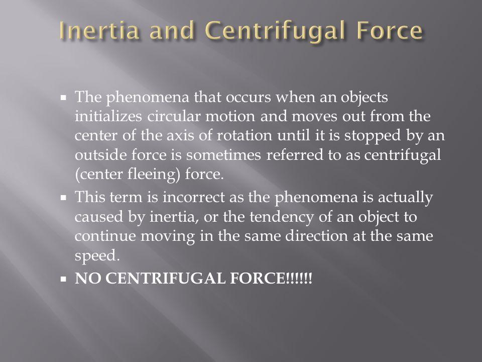 Inertia and Centrifugal Force