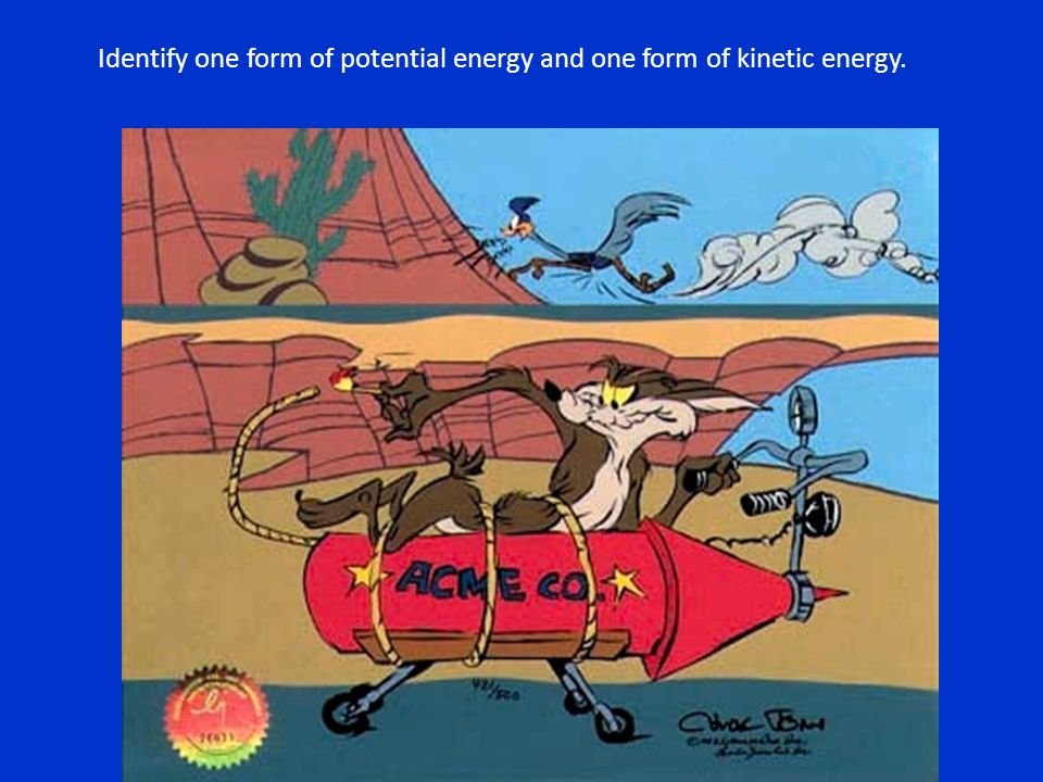 Identify one form of potential energy and one form of kinetic energy.