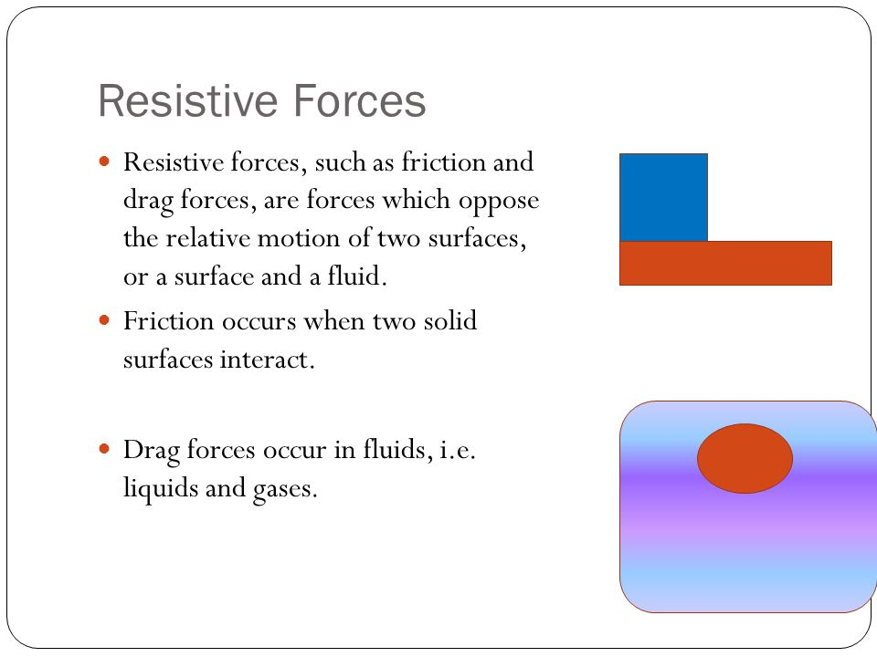 Resistive Forces