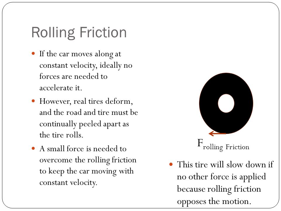 Rolling Friction Frolling Friction