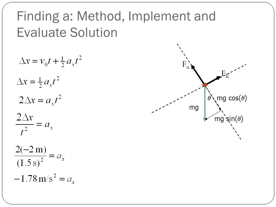 Finding a: Method, Implement and Evaluate Solution